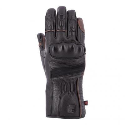 Gants cuir hiver Overlap Aspen noir