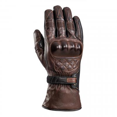 Gants cuir Ixon Pro Vega marron/noir