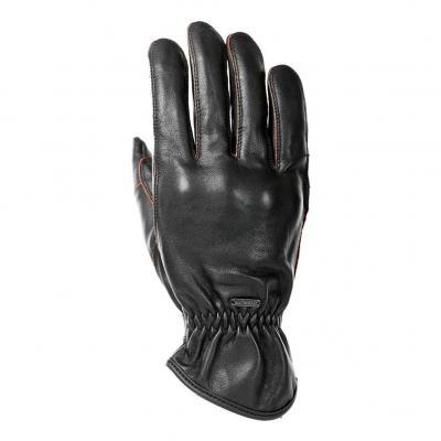 Gants cuir Overlap Milo noir