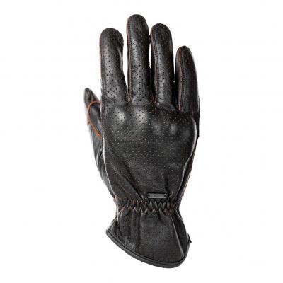 Gants cuir Overlap Milo Vented noir