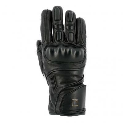 Gants cuir Overlap Tim waterproof noir