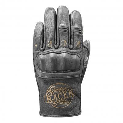 Gants cuir Racer Cally noir