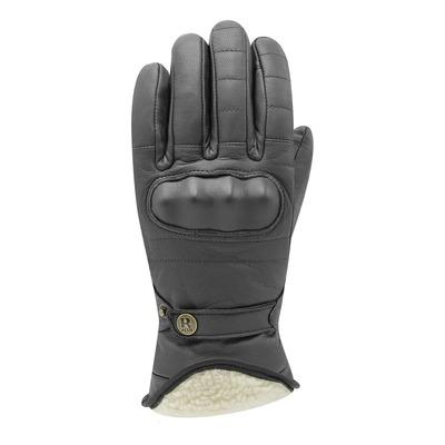 Gants cuir Racer Flynn 3 noir