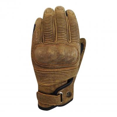 Gants cuir Racer Muddy marron