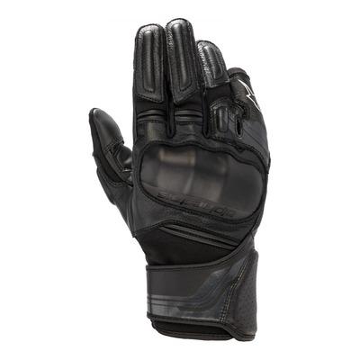 Gants cuir/textile Alpinestars Booster v2 noir/noir