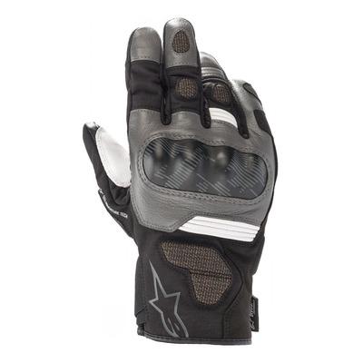 Gants cuir/textile Alpinestars Corozal V2 Drystar noir/gris foncé/blanc