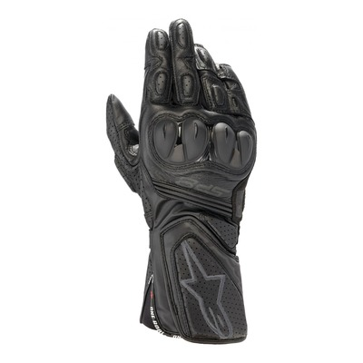 Gants cuir/textile Alpinestars SP-8 v3 noir/noir