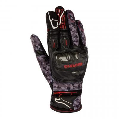 Gants cuir/textile Bering Cortex noir/camo