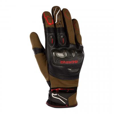 Gants cuir/textile Bering Cortex noir/kaki