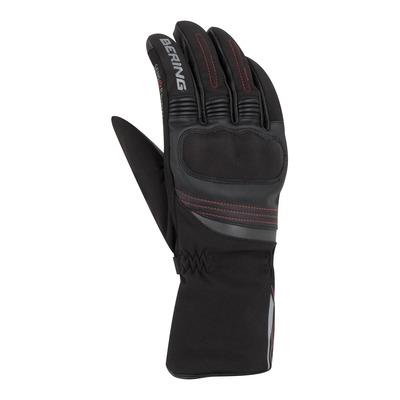 Gants cuir/textile Bering Lisboa noir