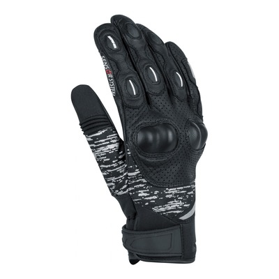 Gants cuir/textile Bering Ponoka noir/gris