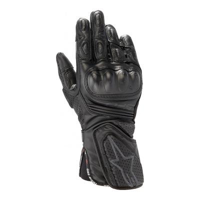 Gants cuir/textile femme Alpinestars Stella SP-8 v3 noir/noir