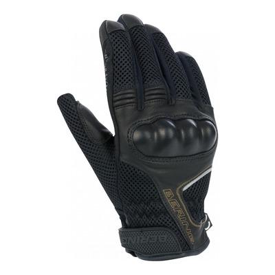 Gants cuir/textile femme Bering KX 2 noir