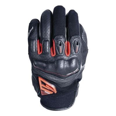 Gants cuir/textile Five RS2 21 noir/rouge