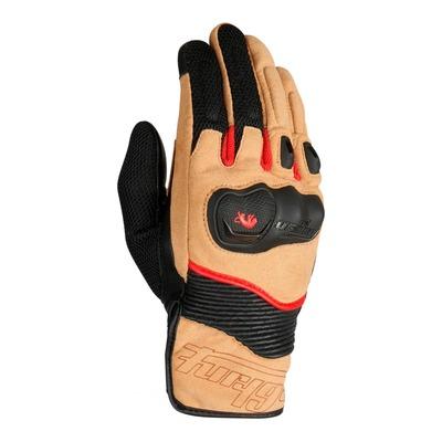 Gants cuir/textile Furygan Dust sable/noir/rouge