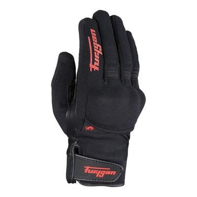 Gants cuir/textile Furygan Jet D3O All Season noir/rouge