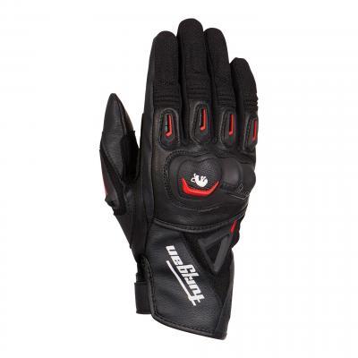 Gants cuir/textile Furygan Volt noir/rouge