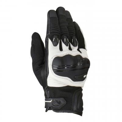 Gants cuir/textile Furygan Waco noir/blanc