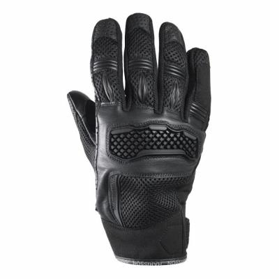 Gants cuir/textile Harisson Bel Air noir