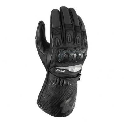 Gants cuir/textile Icon Patrol noir