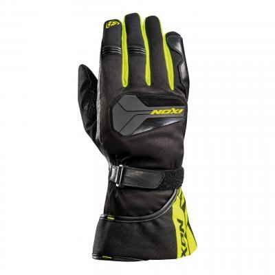 Gants cuir/textile Ixon Pro Atom noir/jaune fluo