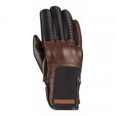 Gants cuir/textile Ixon RS Néo marron/noir