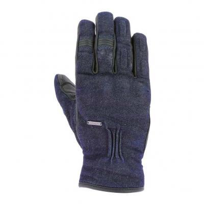 Gants cuir/textile Overlap Iron denim