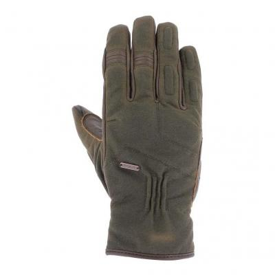 Gants cuir/textile Overlap Iron marron