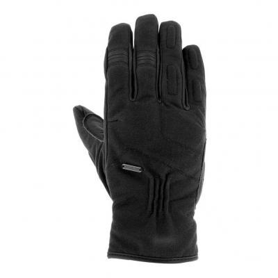 Gants cuir/textile Overlap Iron noir