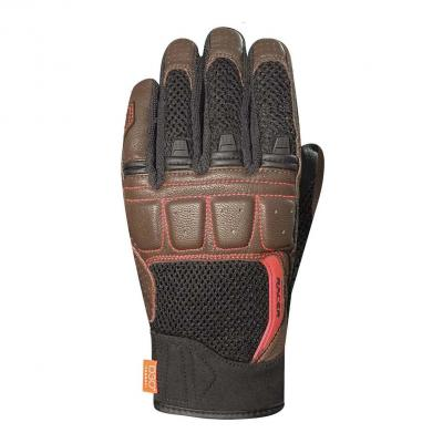 Gants cuir/textile Racer Ronin noir/marron