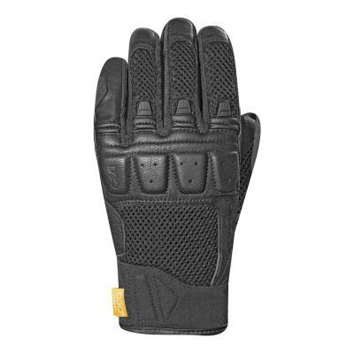 Gants cuir/textile Racer Ronin noir/noir