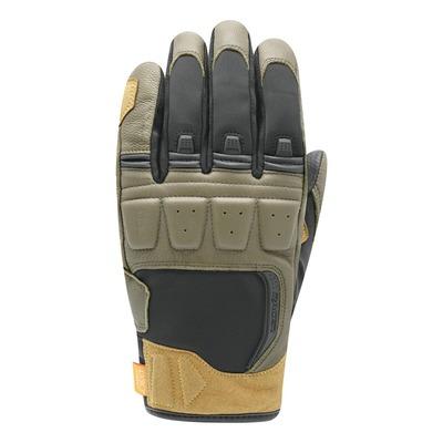 Gants cuir/textile Racer Ronin Winter sand/kaki/noir