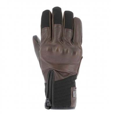 Gants cuir/textile V'Quattro Boston 18 marron