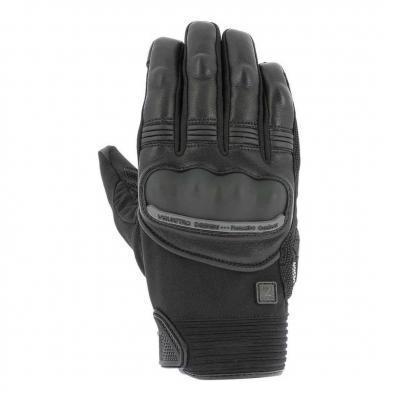 Gants cuir/textile V'Quattro Grind 18 noir