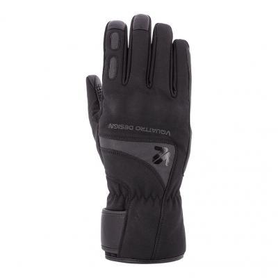 Gants cuir/textile V'Quattro Stelvio noir