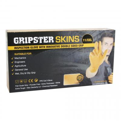 Gants d'atelier GRIP jetables Nitriles orange (x50)