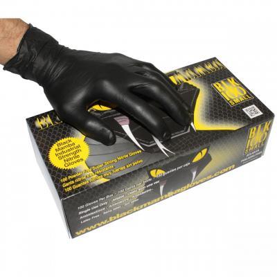 Gants d'atelier Nitrile Black Mamba spécial essence et huile x100