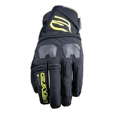 Gants enduro Five E-WP noir/jaune fluo