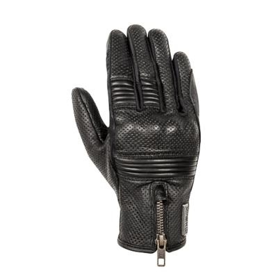 Gants femme cuir/textile Hevik Iron noir