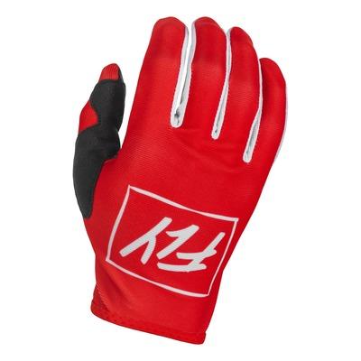Gants Fly Racing Lite rouge/blanc