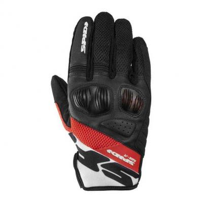 Gants Spidi FLASH-R EVO noir/rouge