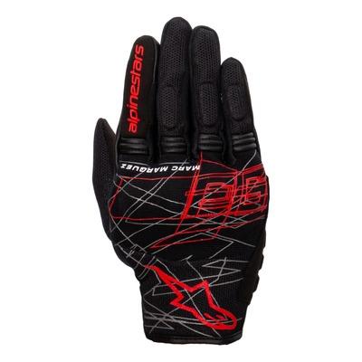 Gants textile Alpinestars Marc Marquez Losail v2 noir/bright rouge