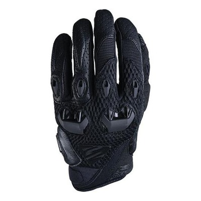 Gants textile/cuir Five Stunt Evo Airflow noir