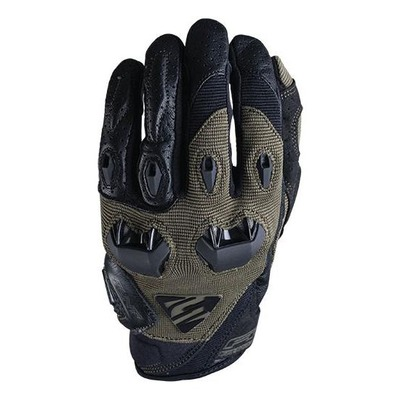 Gants textile/cuir Five Stunt Evo kaki