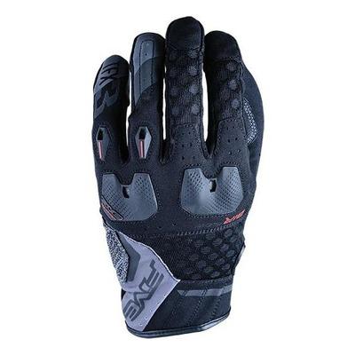 Gants textile/cuir Five TFX3 Airflow noir/gris