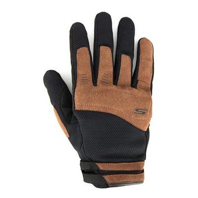 Gants textile/cuir S-Line Air fresh noir/marron