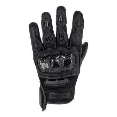 Gants textile/cuir S-Line été GAN600 coque carbone noir
