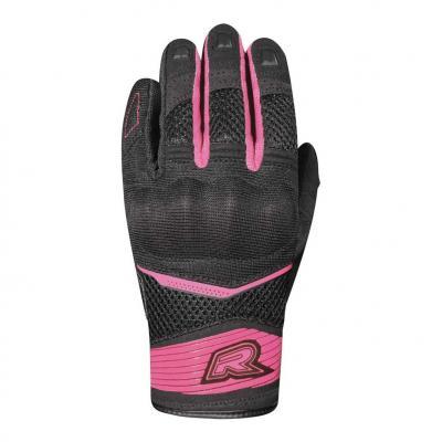 Gants textile femme Racer Skid 2 F noir/rose