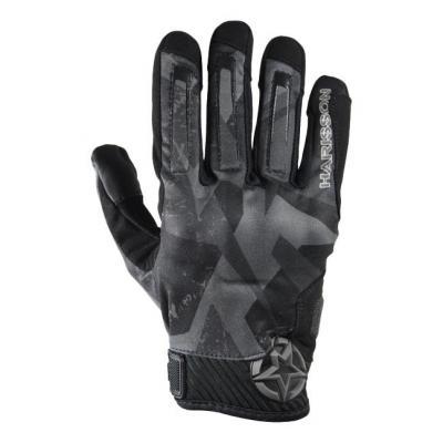Gants textile Harisson Score noir/gris