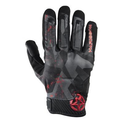 Gants textile Harisson Score noir/rouge